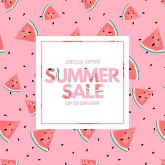 Summer sale mit wassermelonenmuster