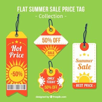 Summer sale preisschilder