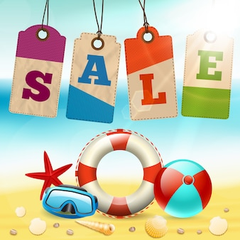 Summer sale schriftzug