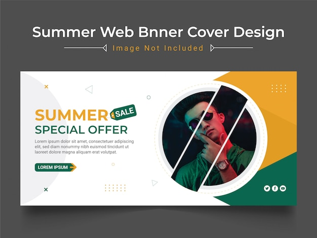 Summer sale web banner design vorlage