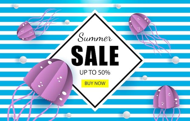 Summer sales marine banner