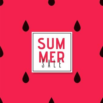 Summer sales promo poster über hellem hintergrund