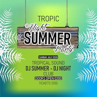 Summer special party flyer - blumig, blattig, flyer