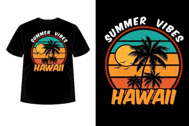 Summer vibes hawaii merchandise silhouette t-shirt design
