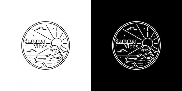 Summer vibes monoline design