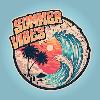 Summer vibes welle und warm