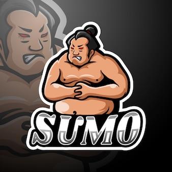 Sumo esport logo maskottchen design