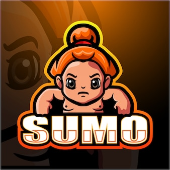 Sumo maskottchen esport illustration