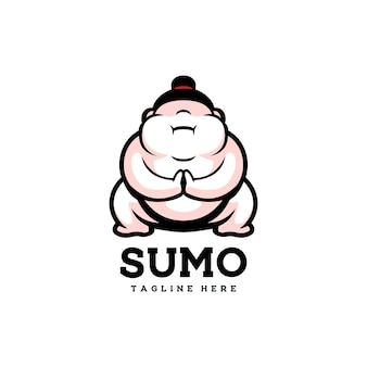 Sumo süßer japanischer asiatischer mannsport glückliches fett