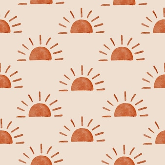 Sun boho form modernes organisches nahtloses muster backgraound