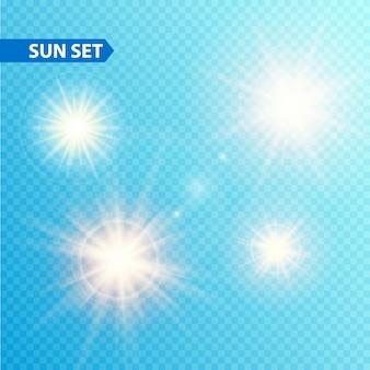 Sun burst sammlung. illustration