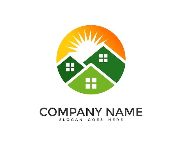 Sun house logo design