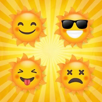 Sun set isolierter sunburst-hintergrund