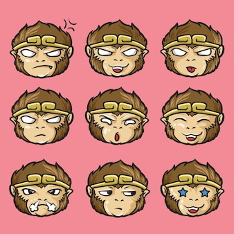 Sun wukong oder monkey king jurney das west-emoticon