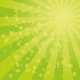 Sunburst-hintergrund mit grüner farbpalette des verwirbelten radial gestreiften designs.