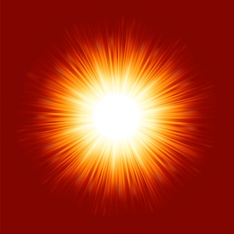 Sunburst-sonnenstrahlen