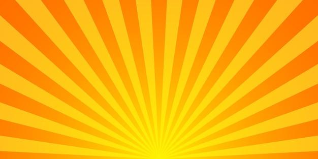 Sunburst-vektorhintergrund. sunburst vintage-stil. gelbe vektorstrahlen.