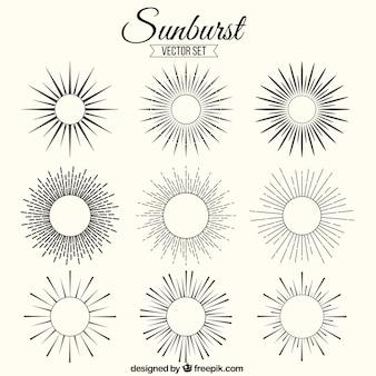 Sunburst verzierungen