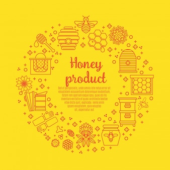 Sunny banner honigprodukt.