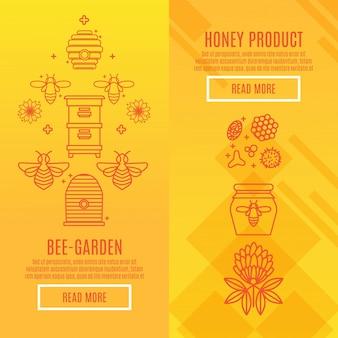 Sunny set banner honigprodukt.
