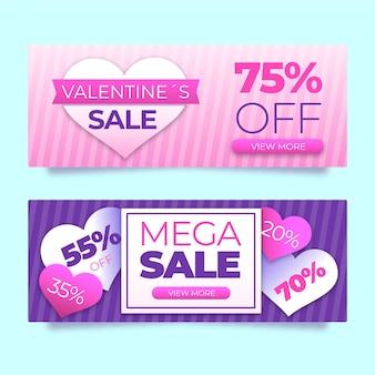 Super angebot valentinstag sale banner