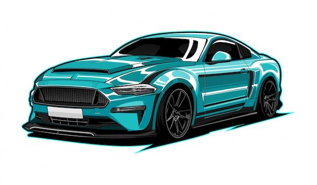 Super auto illustration