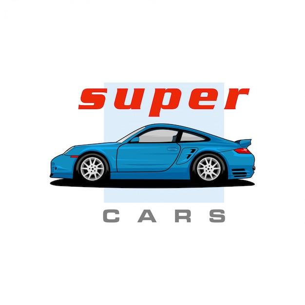 Super autos vektor