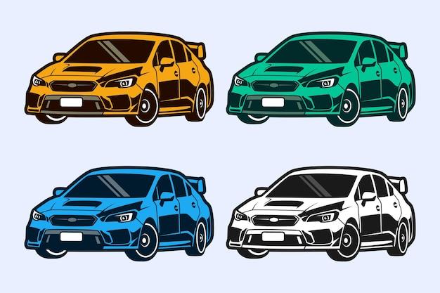 Super autos vorlagen design