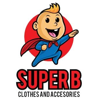 Super baby logo maskottchen vorlage