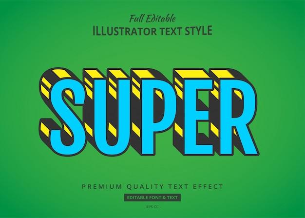 Super comic cartoon text style effekt premium