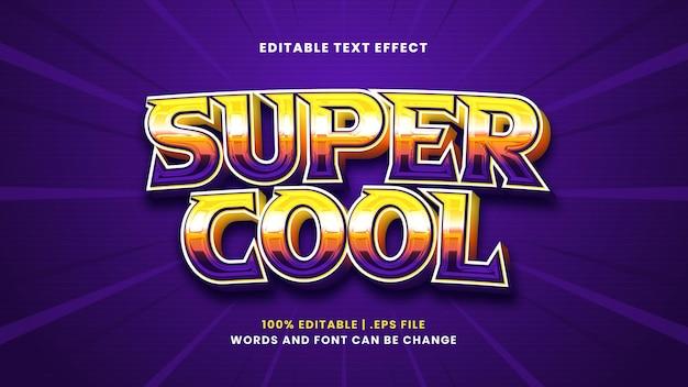 Super cooler bearbeitbarer texteffekt im modernen 3d-stil