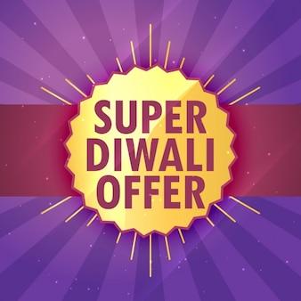Super diwali verkauf angebot design-vorlage