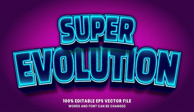Super evolution 3d bearbeitbarer textstil-effekt