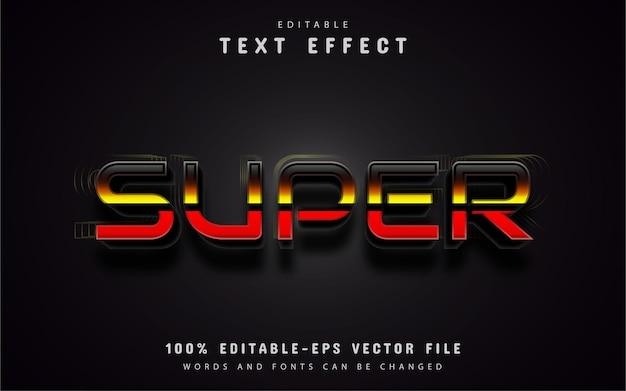 Super farbverlaufstext-effekt
