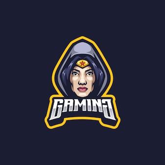 Super girl logo maskottchen