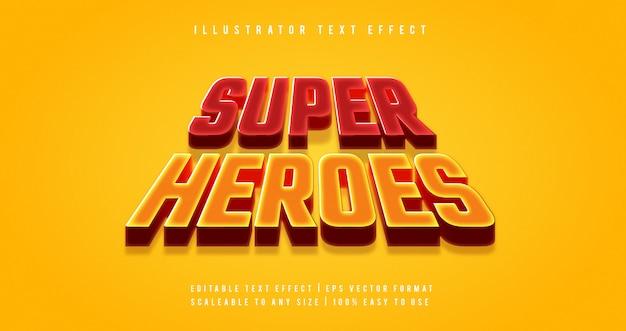 Super heroes movie text style schrift-effekt