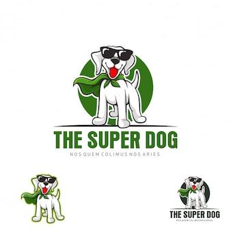 Super Hund Tier Maskottchen Logo