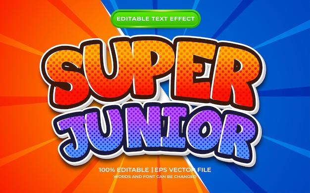 Super junior texteffektvorlagenstil