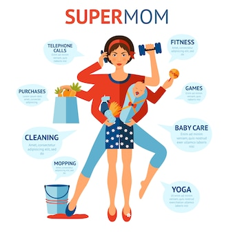 Super-mom-konzept