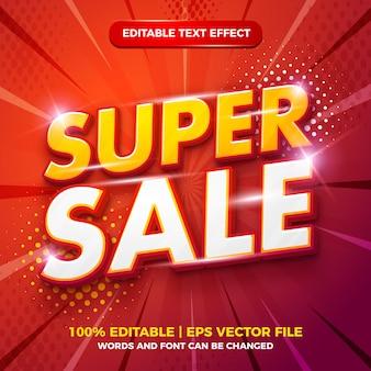 Super sale 3d moderner bearbeitbarer texteffekt-vorlagenstil