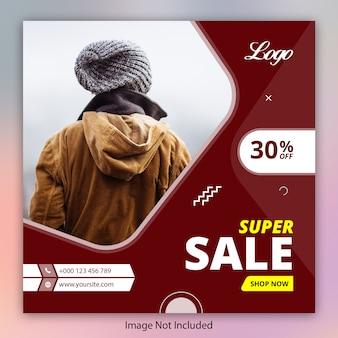 Super sale angebot banner vorlage für instagram