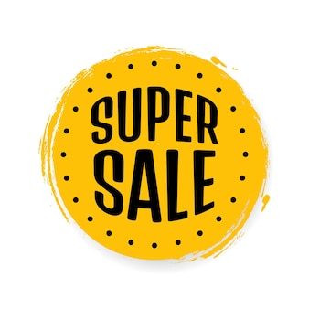 Super sale, banner-design-vorlage, rabatt-tag, app-symbol, vektor-illustration.