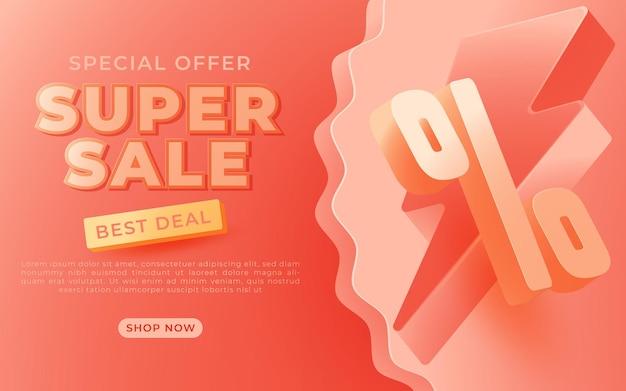 Super sale banner templete design für medienaktionen und social media promo