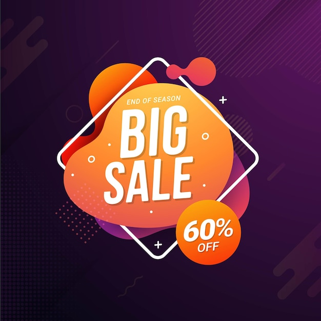 Super sale banner vorlage flash sale rabattaktion