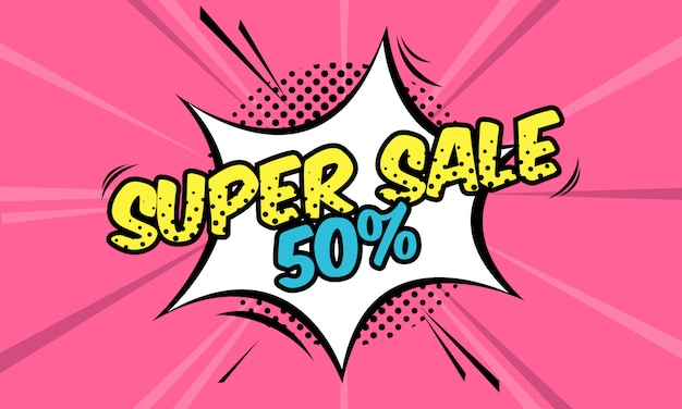 Super sale banner vorlage