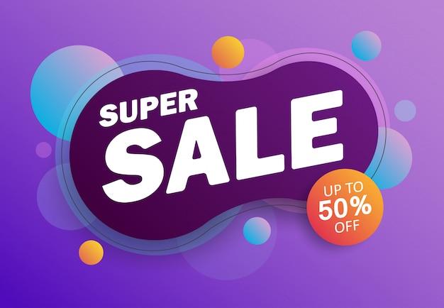 Super sale? colored poster, banner.