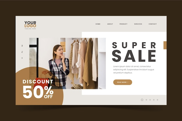 Super sale fashion landing page