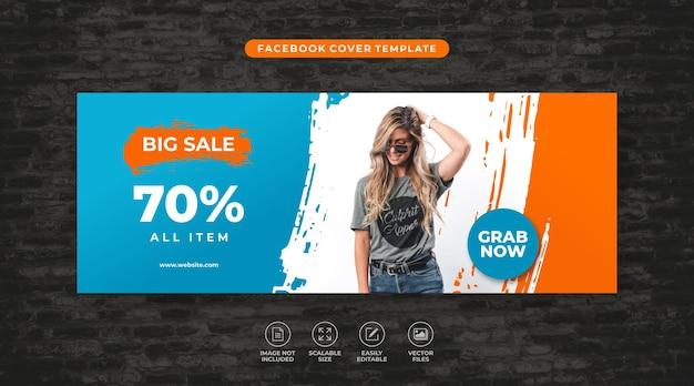 Super sale fashion rabatt social media facebook vorlage vector