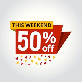 Super sale mega angebot 50% rabatt banner vektor-illustration