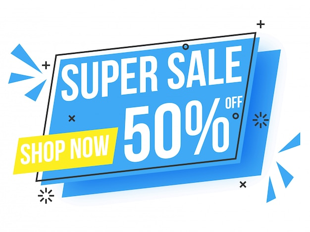 Super sale text banner